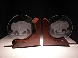 Other Crystal Items - Rose Alderwood Bookends