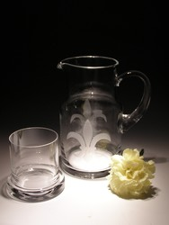 Other Crystal Items - Bedside Pitcher w/Lid