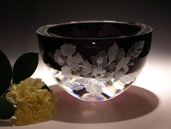 Crystal Bowls and Buckets - Violet Bowl