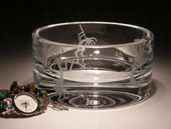 "Crystal Bowls and Buckets - 3"" x 5"" Bowl"