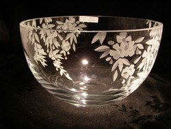 Crystal Bowls and Buckets - Lg. Clear Bowl