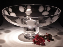 "Crystal Bowls and Buckets - 11"" Rose Bowl"