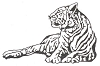 African Wildlife Designs - Tiger - Crystal Engraving Design