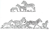 African Wildlife Designs - Zebra's Runnung - Crystal Engraving Design