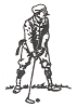 Sports-Golf Designs - 1890's Putter - Crystal Engraving Design