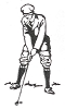 Sports-Golf Designs - 1930's Putter - Crystal Engraving Design