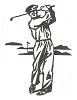 Sports-Golf Designs - Golf Swing - Crystal Engraving Design