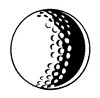 Sports-Golf Designs - Golf Ball - Crystal Engraving Design