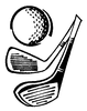 Sports-Golf Designs - Two Clubs - Crystal Engraving Design