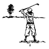 Sports-Golf Designs - Vintage Scene - Crystal Engraving Design