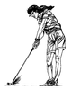 Sports-Golf Designs - Female Golf Swing - Crystal Engraving Design