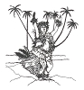 Hawaiian-Tropical Designs - Hula Girl - Crystal Engraving Design