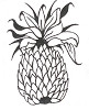 Hawaiian-Tropical Designs - Pineapple - Crystal Engraving Design