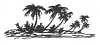 Hawaiian-Tropical Designs - Beach Scene - Crystal Engraving Design