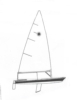 Seascape-Nautical Designs - Sail Boat  - Crystal Engraving Design