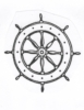 Seascape-Nautical Designs - Wheel - Crystal Engraving Design