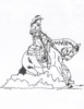 Western-Rodeo Designs - Reining Horse Female  - Crystal Engraving Design
