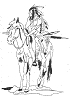 Western-Rodeo Designs - Indian on Horse - Crystal Engraving Design