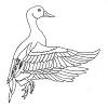Limited-Edition Designs - Deco Duck - Crystal Engraving Design