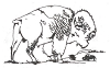 North American Wildlife Designs - Buffalo - Crystal Engraving Design