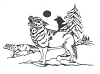 North American Wildlife Designs - Wolf Scene - Crystal Engraving Design