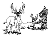 North American Wildlife Designs - New Whitetail Scene - Crystal Engraving Design
