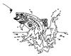 North American Wildlife Designs - Trout with Fly - Crystal Engraving Design