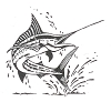 Seascape-Nautical Designs - Marlin - Crystal Engraving Design