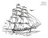 Seascape-Nautical Designs - Ship - Crystal Engraving Design