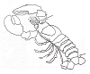 Seascape-Nautical Designs - Lobster-1 - Crystal Engraving Design