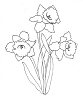 Traditional-Floral Designs - Daffodils - Crystal Engraving Design