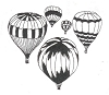Travel Designs - Hot Air Balloons - Crystal Engraving Design