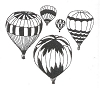 Traditional-Floral Designs - Hot Air Baloons - Crystal Engraving Design