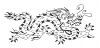 Oriental Designs - Masked Dragon - Crystal Engraving Design