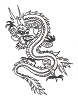 Oriental Designs - Verticle Dragon - Crystal Engraving Design