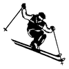 Traditional-Floral Designs - Male Skier - Crystal Engraving Design