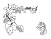 Traditional-Floral Designs - New Grapes - Crystal Engraving Design