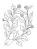 Traditional-Floral Designs - Berry's in Relief - Crystal Engraving Design