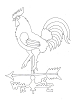 Traditional-Floral Designs - Weathervane Rooster - Crystal Engraving Design