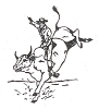 Western-Rodeo Designs - Bull Rider - Crystal Engraving Design