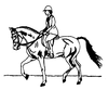 Western-Rodeo Designs - Pleasure Horse - Crystal Engraving Design