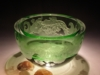 "Crystal Bowls and Buckets - Crystal Crystal 6"" Green Small Bowl"